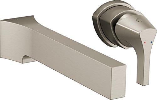 Delta Faucet T574LF-SSWL Zura Single Handle Wall Mount Lavatory Faucet Trim, Stainless ()