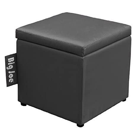 Outstanding Big Joe Square Storage Ottoman 15 Inch Stretch Limo Black Gmtry Best Dining Table And Chair Ideas Images Gmtryco
