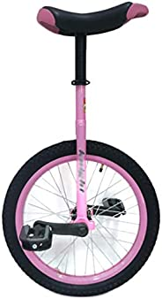 Pink Girls/Kids 20/18/16 Inch Wheel Pink Unicycle, Fashion Free Stand Beginner Bike, for Outdoor Fitness Exerc