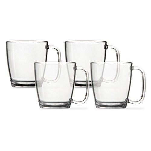 4pc. Break-resistant Restaurant Quality Plastic Coffee Cup 15 oz. (4)