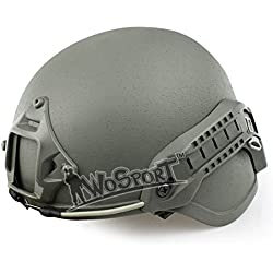 Oarea MICH 2000 Advanced Sport Action Military Airsoft Ear Protection Helmet with NVG Mount and Side Rails