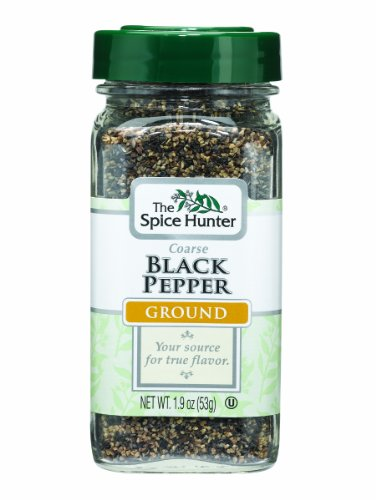 The Spice Hunter Pepper, Black, Coarse, Ground, 1.9-Ounce Jars (Pack of 6)