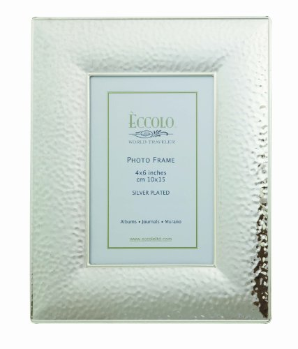 Eccolo SP317 Hammered Silver Plated Frame, 4 by - Photo Frame Hammered
