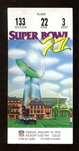 Super Bowl XII 12 Ticket Cowboys Broncos 1/15/78 Louisiana Superdome EX/MT Nice