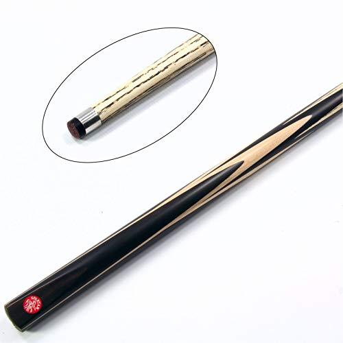 (Spartan Ebony Spear 1 Piece Hand Spliced Ash Snooker Cue - 9-9.5mm Tip)