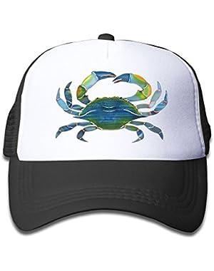 Blue Crab 3D Neon Baby AdjustableTrucker Visor Cap Infant Trucker Hat