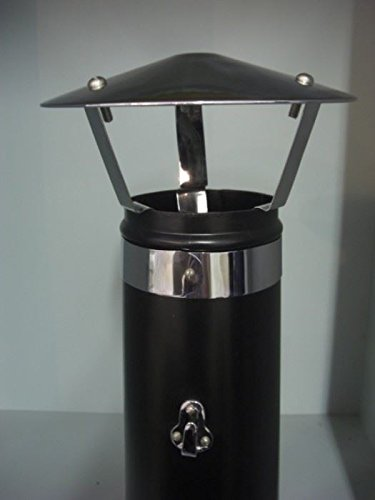 Black Country Metal Works Bright Chrome Coated Chimney Hood (Coolie)