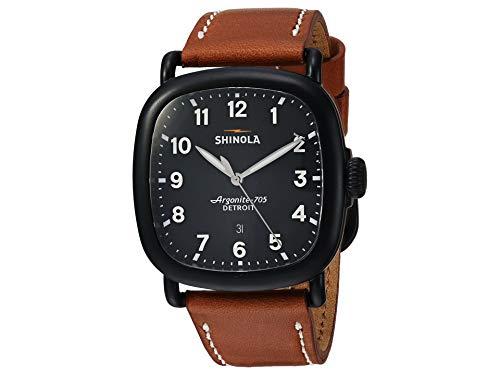 Shinola The Guardian Black Dial Leather Strap Men's Watch 20089896