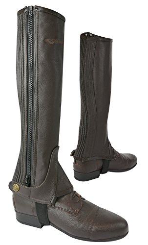 Eric Thomas 913015 Leather Half-Chaps Brown/Brown h3fiCaJL