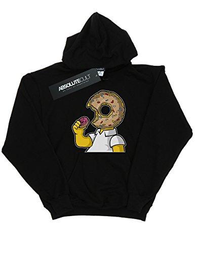 Drewbacca Girls Love Donuts Hoodie Black 7-8 Years by Absolute Cult (Image #1)