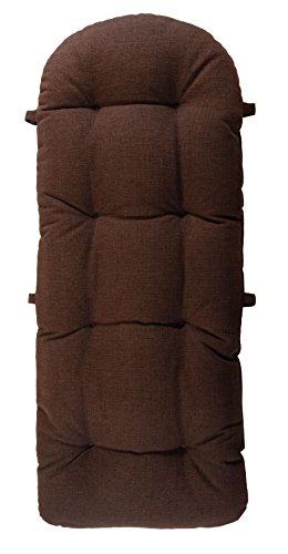 Schaukelstuhl Auflage Braun, Polster, Kissen 120x50 deutsche Herstellung, Auflagekissen / Kissenauflage für Schaukelsessel