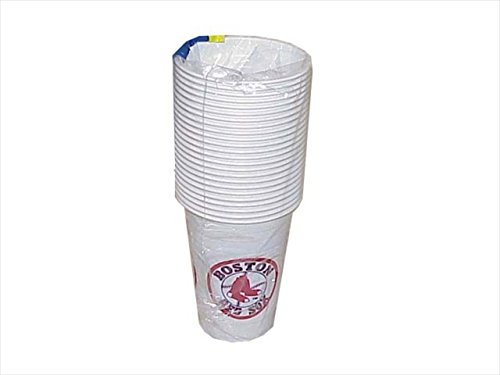MLB Boston Red Sox Disposable Plastic Cups Pack Of 24