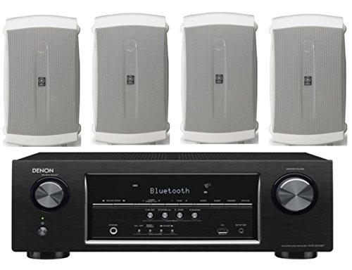 Denon-52-Channel-700-Watt-Full-4K-Ultra-HD-Bluetooth-AV-Home-Theater-Receiver-Yamaha-High-Performance-Natural-Surround-Sound-2-Way-120-watts-IndoorOutdoor-Weatherproof-Speaker-System-Set-Of-4