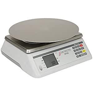 Detecto Scale RP30R Rotating 30 Lb. Platter Scale