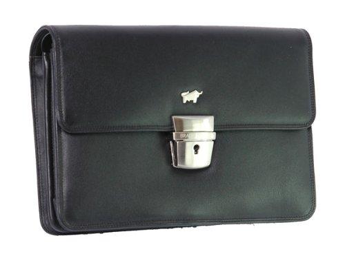 Braun Büffel Golf Herrentasche Leder 22,5 cm schwarz