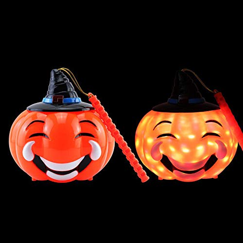 Pumpkin Halloween Decorations Jack O' Lantern Smart Touch Noise Control Flashing Night Lights with Scream Portable Pumpkin Lanterns Battery Operated Tricky Toy Halloween Theme Party Decor Favors]()