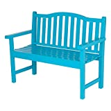 Shine Company Belfort Garden Bench, Turquoise Review