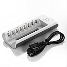 EBL 8 Bay/Slot Battery Charger for AA/AAA Ni-MH Ni-CD Rechargeable Batteries