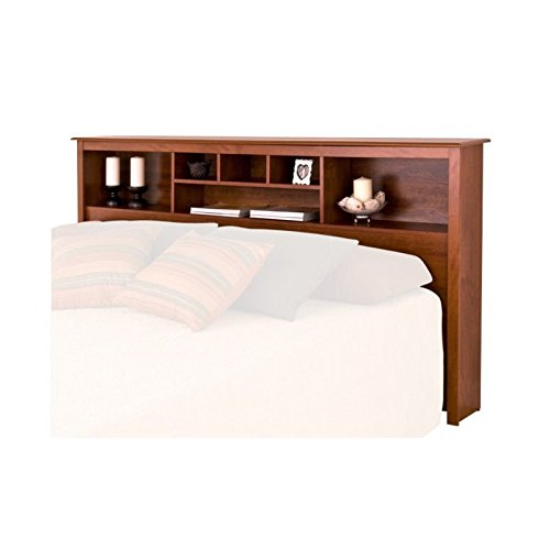 BOWERY HILL King Bookcase Headboard in Cherry by BOWERY HILL