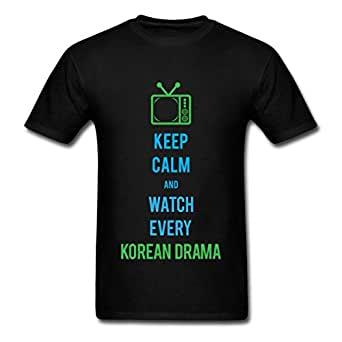 Watch Korean Drama Men's T-Shirt, XL, black