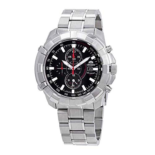 Orient Classic Alarm Chronograph Black Dial Mens Watch FTD10004B ()