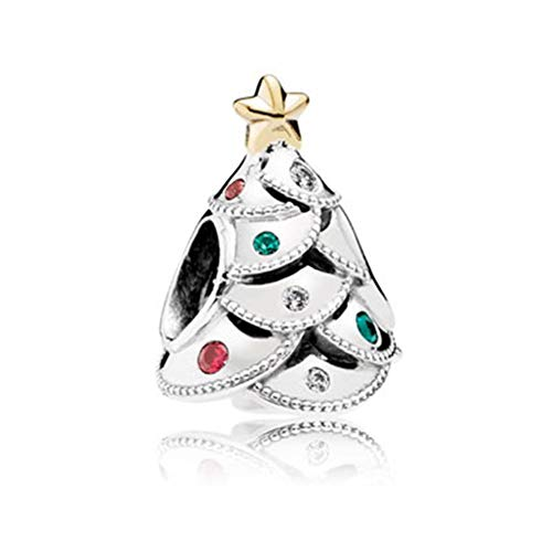 Christmas Tree Charm - SUNWIDE Holiday X-mas Twinkling Christmas Tree Charm Fit Pandora Charms Bracelets (Colorful)