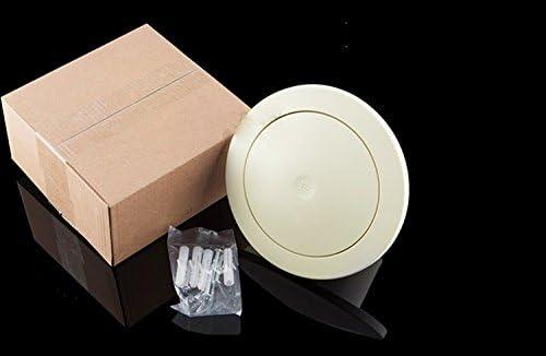 Hon/&Guan /ø75mm Round Grille dA/ération Ajustable avec Silencer en Cotton et Filet Anti-poussi/ère /à lInt/érieur