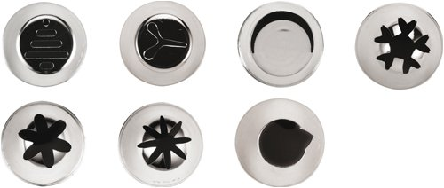 Paderno World Cuisine Flowers, Dashes and More 7-Piece Stainless-steel Decorating Tubes