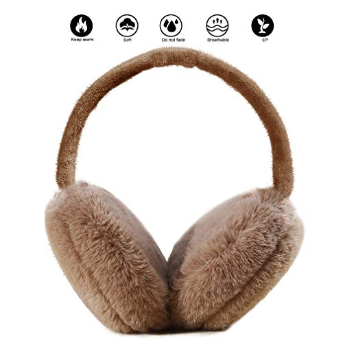 Ear Muffs for Adults Foldable Soft Ear Warmers Adjustable Wrap Winter Earmuffs -