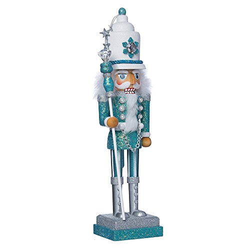 (Kurt Adler Hollywood Nutcracker, 17-Inch, Turquoise/White)
