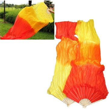 1.8M Multicolor Belly Dance Fan Bamboo Long Silk Fans Dance Performance Supplies^. (Disco Ball Streamers compare prices)