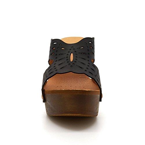 London Footwear ,  Damen Plateau Schwarz