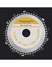 BNXTF Disco de Cadena de Amoladora, Disco de Cadena de Acabado de carburo de Acero Inoxidable multifunción de 4-9 Pulgadas para Madera, Piedra, Metal, Esculpir, moldear y Cortar plástico