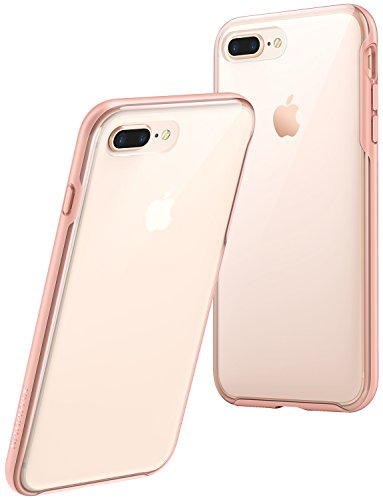 Anker iPhone 8 Plus Case, iPhone 7 Plus Case, KARAPAX Ice Case, Semi-Transparent Hard Back and Soft Bumper [Support Wireless Charging] for iPhone 8 Plus (2017) / iPhone 7 Plus (2016) - Pink