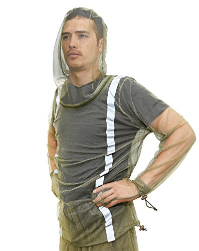 Sketon Mosquito Bug Net Jacket with Reflectors, Pants and Mitt's Mosquito Suit Bug Suit with Zipper on Hood by for Camping Hiking and Yard Work, for Bug Mosquito Protection with Small Carrying Pouch