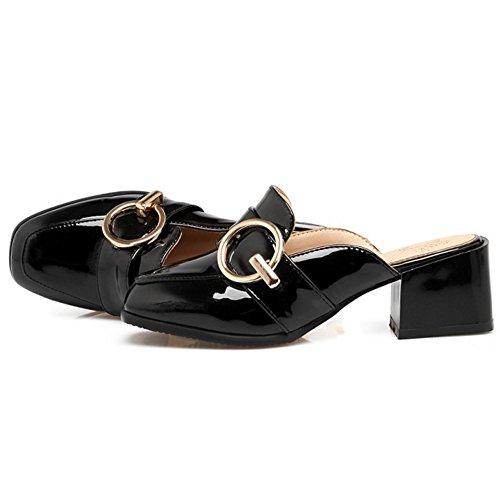 Chiuse Donna TAOFFEN Black Pantofole Moda vPwqz