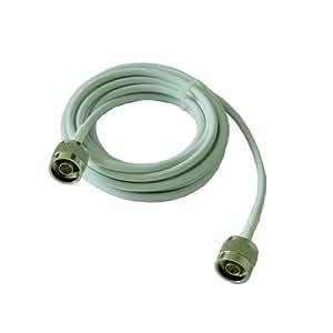 Phonetone Cable flexible 10 metros 50-3 Cable conector N macho a N macho color de cable Blanco