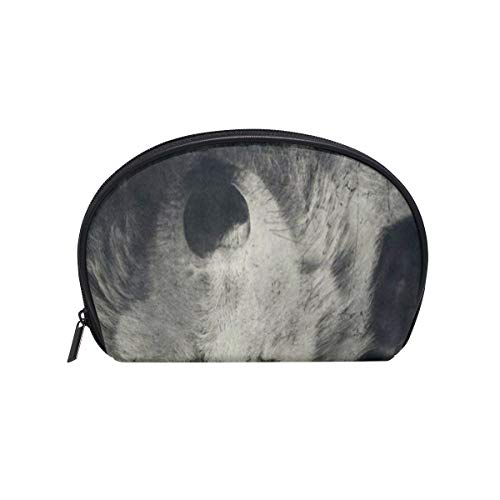 Cosmetic Bag Halloween Night Wolf Customized Shell Makeup Bags Organizer Portable Pouch for Women/Girls