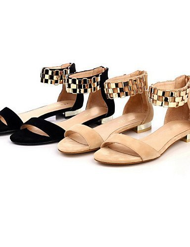86c7d396398 Low ShangYi Career Black Women s amp  Velvet Office Comfort Casual Black  Sandals Shoes Heel Almond BBFqAr