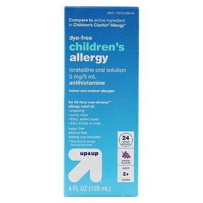 Non-sedating antihistamines pregnancy test