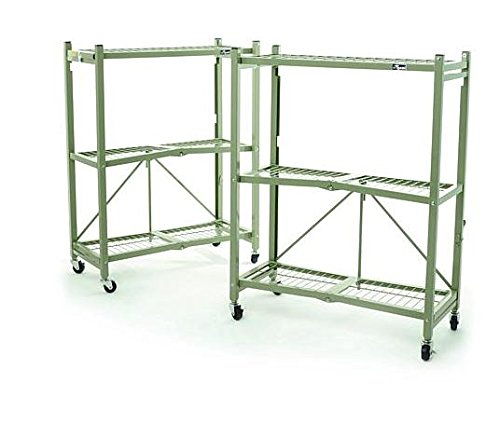 Origami Heavy Duty Foldable 3 Tier Rack, Sage by Origami