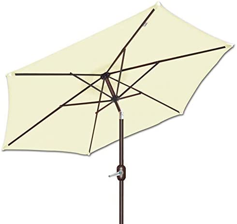 Strong Camel 8' 2.5m Parasol New Patio Garden Umbrella Sunshade Market Outdoor-Ecru Color 38mm Aluminium Pole