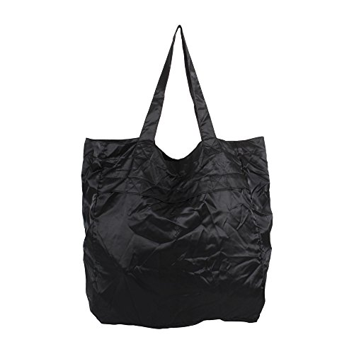s Girls Convertible Foldable Pouch Tote Bag Black ()