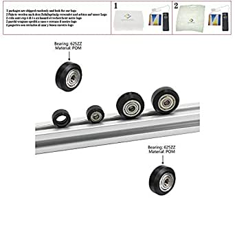Poleas de rueda de plástico POM Pequeñas y grandes Ranuras en V ...