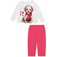 Pijama Infantil Menina Manga Longa Estampa Cachorrinho Kyly