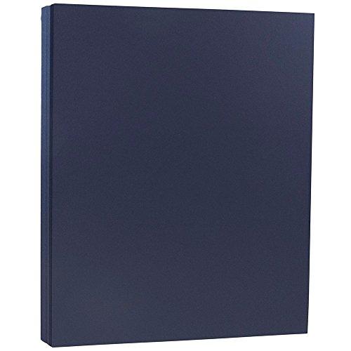JAM PAPER Matte 80lb Cardstock - 8.5 x 11 Letter Size Coverstock - Navy Blue - 50 Sheets/Pack