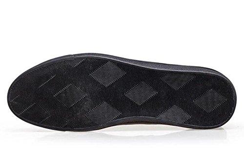 Männer Lace-Up Flats Oxford Casual Leder Schuhe Skateboard Sommer Breathable Leder Schuhe 38-47 Größe Schwarz , black , 40