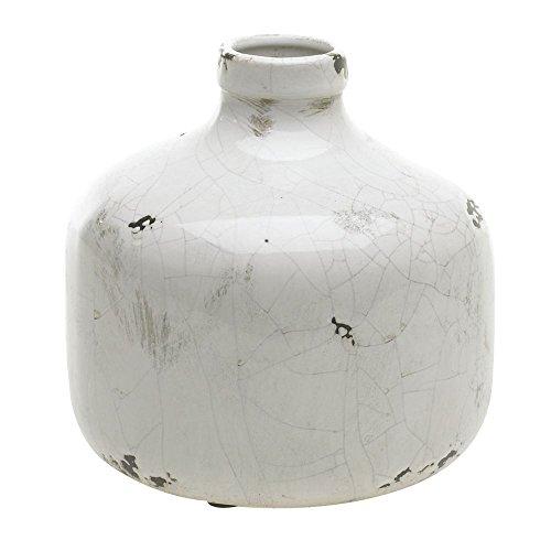 Ceramic Jug White Crackle - 7 1/4