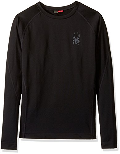 Spyder Base Layer - Spyder Men's Stryker Top, Black, Medium
