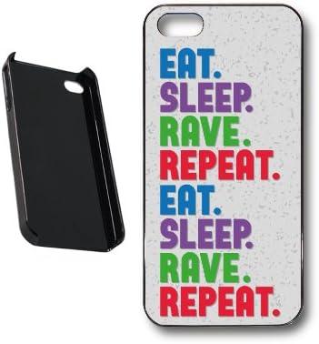 TopZog Carcasa para iPhone 5, diseño con letra de la canción Eat, Sleep, Rave, Repeat de Fatboy Slim y Riva Starr: Amazon.es: Electrónica